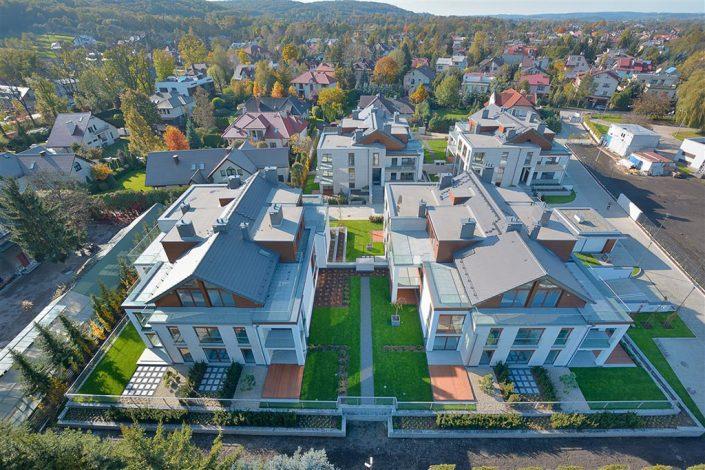 Zespół domów - zdjęcie z góry