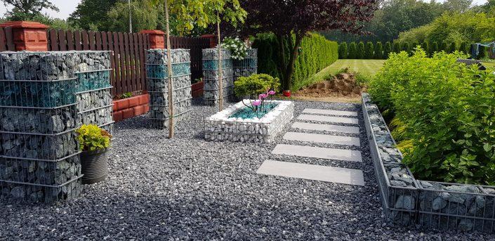 Ogródek z gabionami