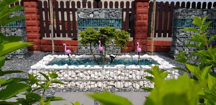 Ogródek z gabionami 4
