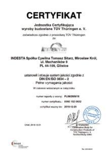 DIN EN ISO 3834-2 INDESTA